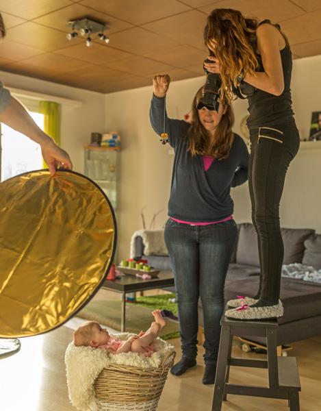 Baby Fotoshooting behind the scenes