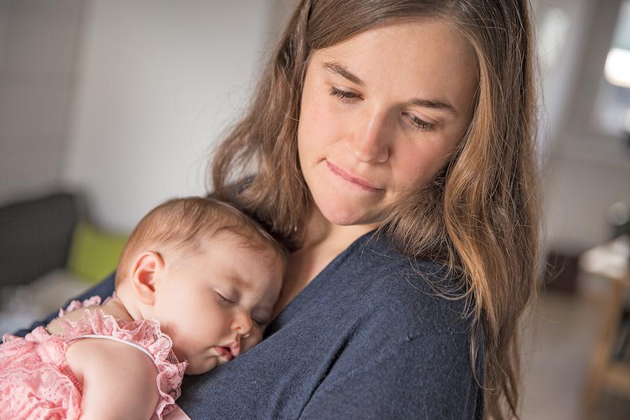 Baby-mit-Mutter